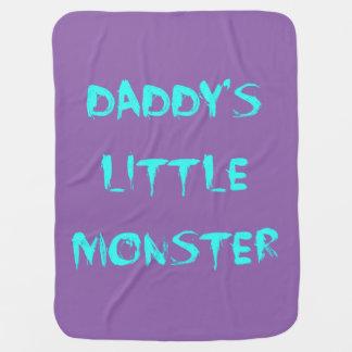 お父さんの小さいモンスター毛布の青か紫色 ベビー ブランケット
