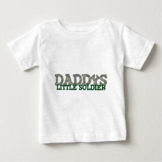 お父さんの小さい兵士 ベビーTシャツ