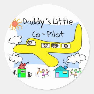 お父さんの小さい副操縦士はTシャツをからかいます ラウンドシール
