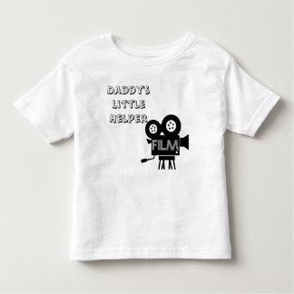 お父さんの小さい助手の映画フィルムの企業のカスタム トドラーTシャツ