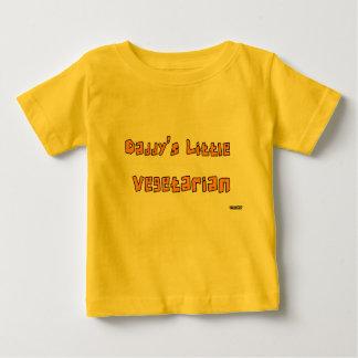 お父さんの小さい菜食主義のクローラーオレンジ ベビーTシャツ