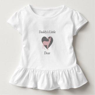 お父さんの小さく親愛な女の赤ちゃんのシカのワイシャツ トドラーTシャツ
