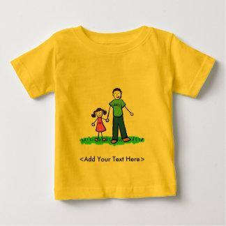 お父さんの小さな女の子のTシャツ(ブルネット) ベビーTシャツ