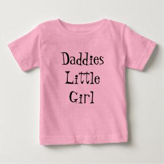 お父さんの小さな女の子のTシャツ ベビーTシャツ