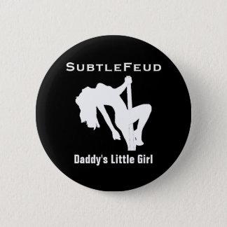 お父さんの小さな女の子ボタン 5.7CM 丸型バッジ
