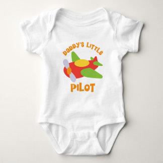 お父さんの少しパイロットの飛行機 ベビーボディスーツ