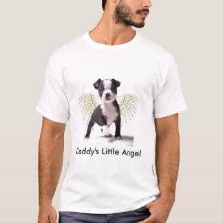 お父さんの少しボストン子犬のTシャツ Tシャツ