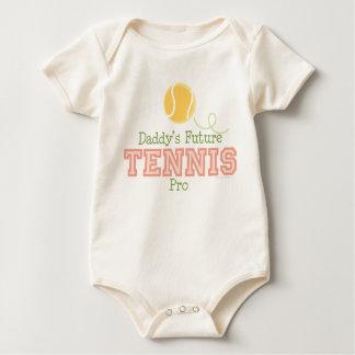 お父さんの未来のテニスのプロの幼児クリーパー ベビーボディスーツ