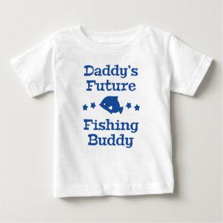 お父さんの未来の魚釣りの相棒 ベビーTシャツ