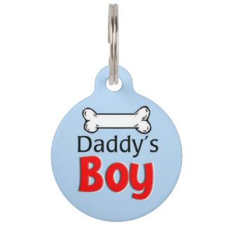 お父さんの男の子のペット用名札 ペット ネームタグ