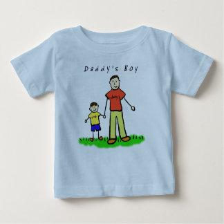 お父さんの男の子のTシャツ(両側を引いているブルネット) ベビーTシャツ