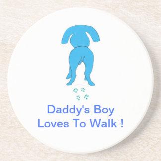 お父さんの男の子犬のコースター コースター