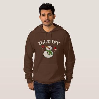 お父さんの雪だるまのTシャツのパジャマ家族の一致のギフト パーカ