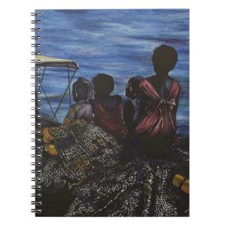 お父さんはどこにいますか。 港の島、バハマ ノートブック