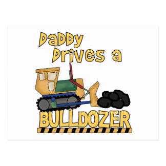 お父さんはブルドーザーのTシャツおよびギフトを運転します ポストカード
