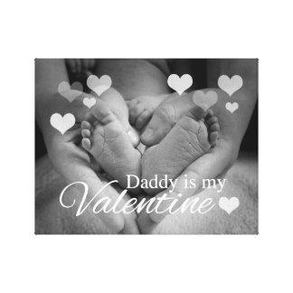 お父さんは私のバレンタインです キャンバスプリント
