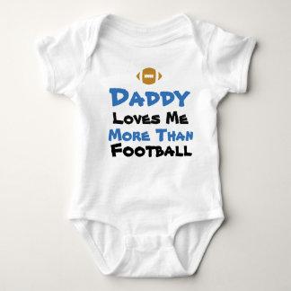 お父さんは私をフットボールのベビーのボディスーツよりもっと愛します ベビーボディスーツ