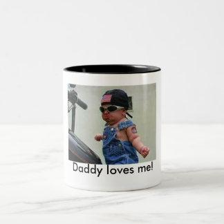 お父さんは私を愛します! ツートーンマグカップ