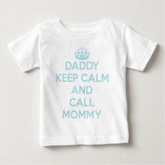 お父さんは穏やかなTシャツを保ちます(淡いブルーの) ベビーTシャツ