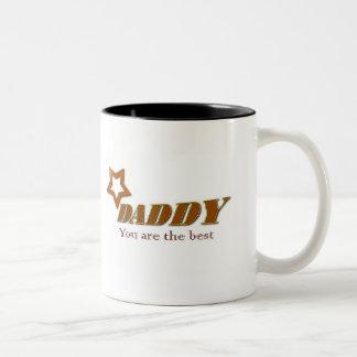 お父さん、ベストです ツートーンマグカップ