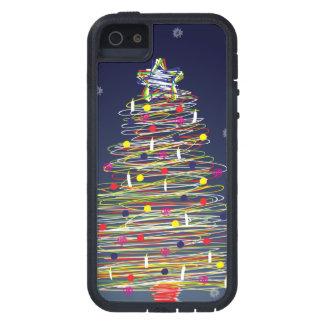 お祝いのカラフルなクリスマスツリー(それをカスタマイズ!) iPhone SE/5/5s ケース