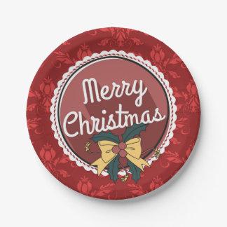 お祝いのクリスマスの紙皿 ペーパープレート