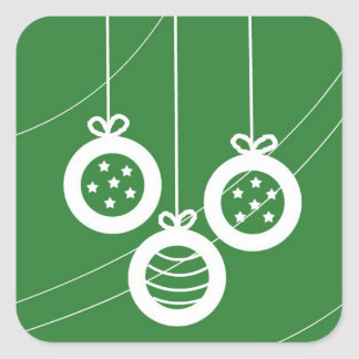 お祝いのクリスマスの装飾 スクエアシール