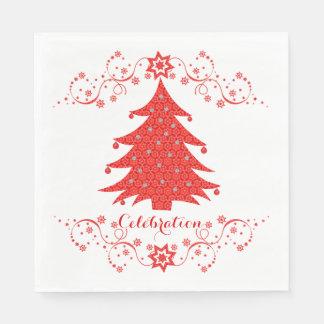 お祝いのクリスマスツリーのパーティー スタンダードランチョンナプキン