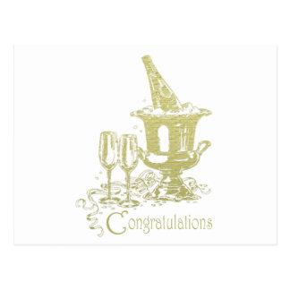 お祝いのシャンペンの芸術 ポストカード