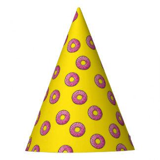 お祝いのパーティはドーナツ好みを振りかけます パーティーハット