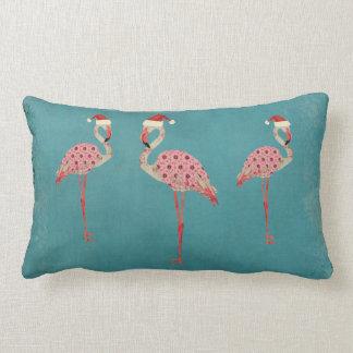 お祝いのフラミンゴのLumbarの枕 ランバークッション