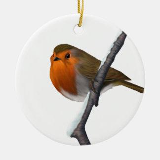 お祝いのヨーロッパ人のロビンのクリスマスツリーのオーナメント セラミックオーナメント