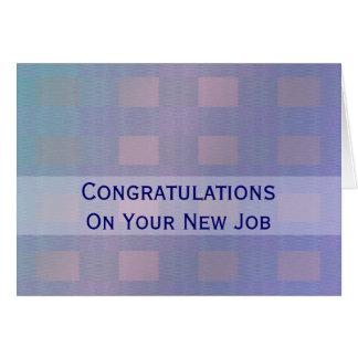 お祝いの仕事のパステル調の青 グリーティングカード