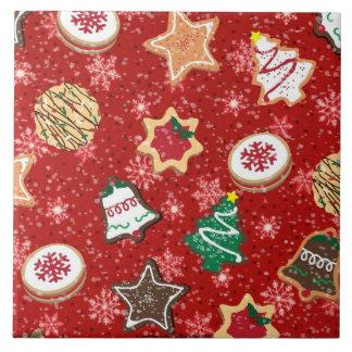 お祝いの休日のChistmasのクッキーのプリントのタイル タイル