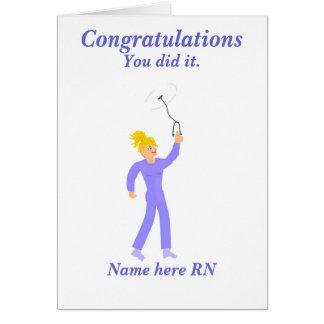 お祝いの卒業の公認看護師 カード