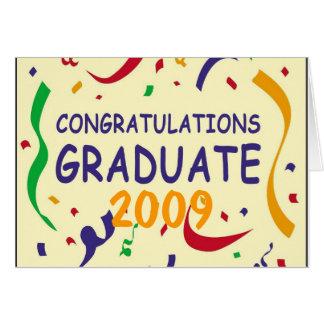 お祝いの卒業生 カード