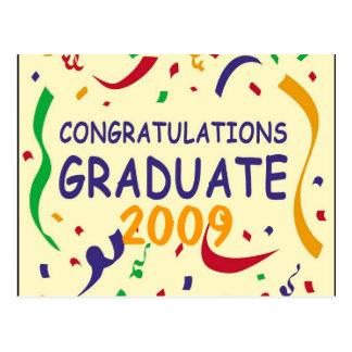 お祝いの卒業生 ポストカード