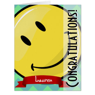 お祝いの大きいGreeeting巨大な微笑のカード カード