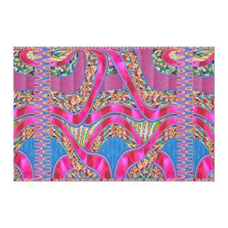 お祝いの宝石のリボン写実的なスペクトルのギフト キャンバスプリント