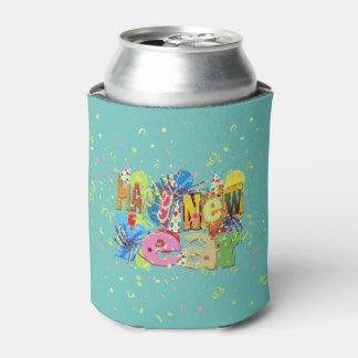 お祝いの明けましておめでとう 缶クーラー