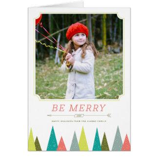 お祝いの森林休日の写真の挨拶状 カード