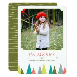 お祝いの森林休日の写真カード 12.7 X 17.8 インビテーションカード