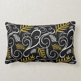 お祝いの群葉の金ゴールドのDecoパターン休日の枕 ランバークッション