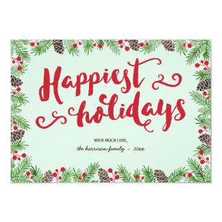 お祝いの群葉|の書道の休日の非写真 カード