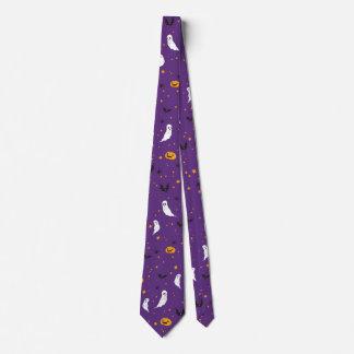 お祝いの通り-ハロウィン(紫色) ネクタイ