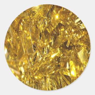 お祝いの金ゴールドホイル ラウンドシール