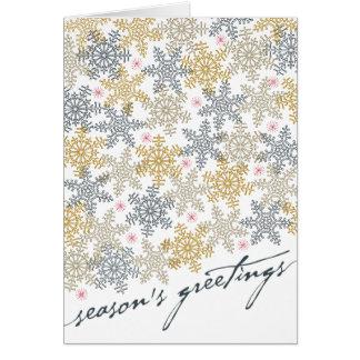 お祝いの雪片 カード
