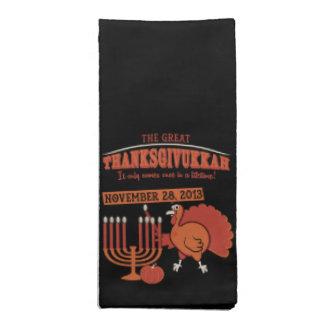 お祝いの「Thanksgivukkah 布製ナプキン