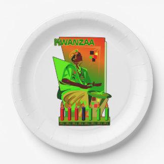 お祝いのKwanzaaのパーティーの紙皿の週 ペーパープレート