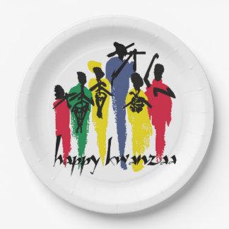 お祝いのKwanzaaの巧妙なパーティーの紙皿 ペーパープレート